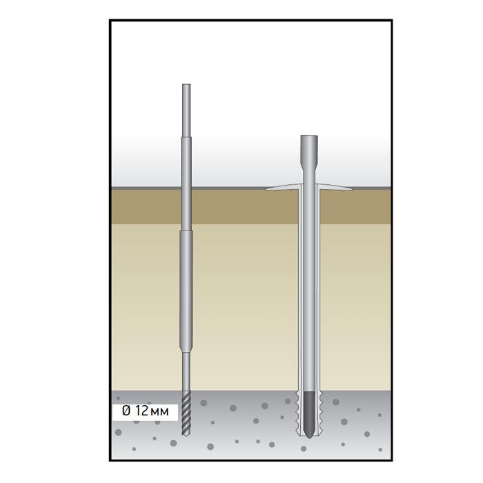 Дюбель для теплоизоляции с распорной частью Croco 512 230-250