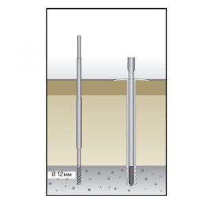 Дюбель для теплоизоляции с распорной частью Croco 512 120-140
