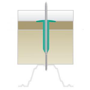 Саморез KLA - 110 NO 1 TORX для Croco (металлическое основание до 2 мм) Ruspert