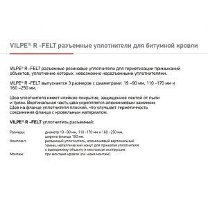 Резиновый разъемный уплотнитель для проходных элементов с круглым сечением R-FELT 19-90