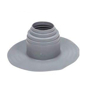ПВХ уплотнитель для проходных элементов с круглым сечением 100-160 мм темно-серый