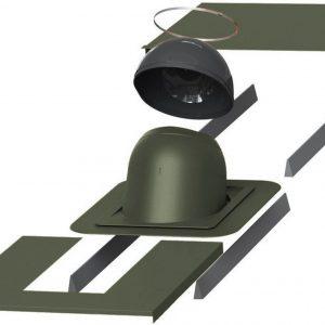 Проходной элемент для дымовой трубы круглой диаметром (метал/фальц)  280-300 мм PIIPPU зеленый