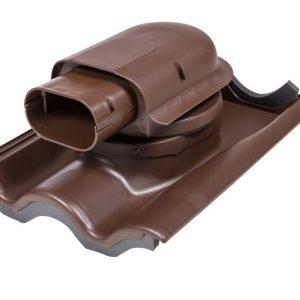 Проходной элемент для натуральной черепицы Solar Tiili коричневый