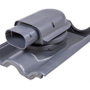 Проходной элемент для натуральной черепицы Solar Tiili серый