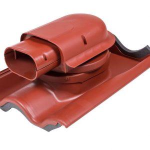 Проходной элемент для натуральной черепицы Solar Tiili красный