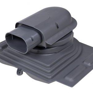 Проходной элемент для металлочерепицы Solar Pelti серый