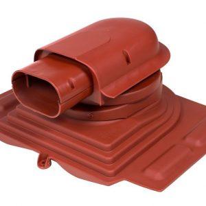 Проходной элемент для металлочерепицы Solar Pelti красный