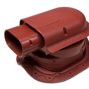 Проходной элемент для металлочерепицы с круглым профилем Solar Muotokate красный