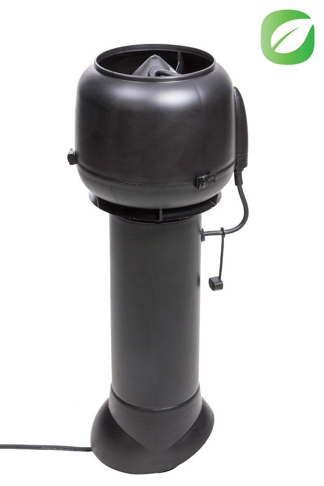 Вентилятор ECo110P/110/700  0 -600 м3/ч для биотуалетов и удаления радона черный