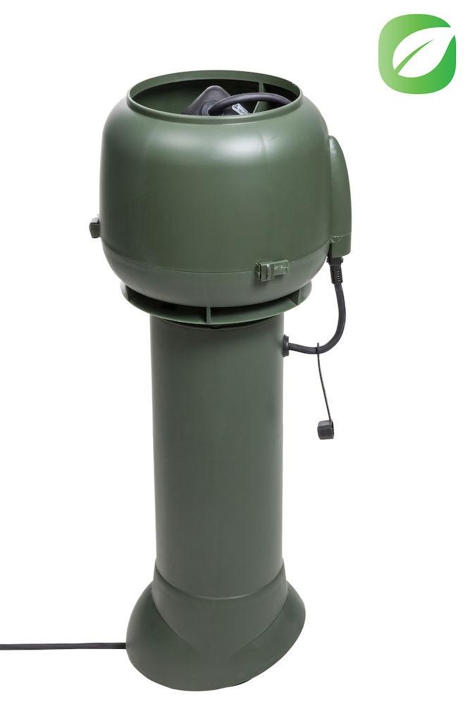 Вентилятор ECo110P/110/700  0 -600 м3/ч для биотуалетов и удаления радона зеленый