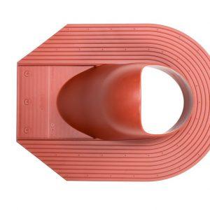 Проходной элемент для мягкой кровли Huopa/Slate красный