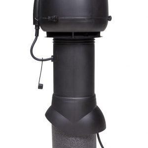 Вентилятор воздуховода E120 Р 0-400м3/ч  черный