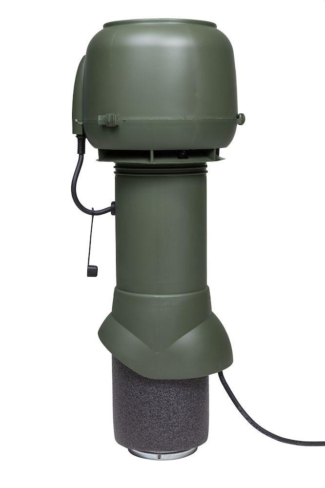 Вентилятор воздуховода E120 Р 0-400м3/ч  зеленый