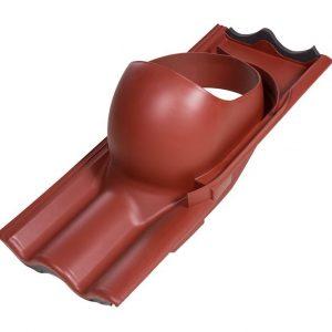 Проходной элемент для труб TILI 160-250 мм красный