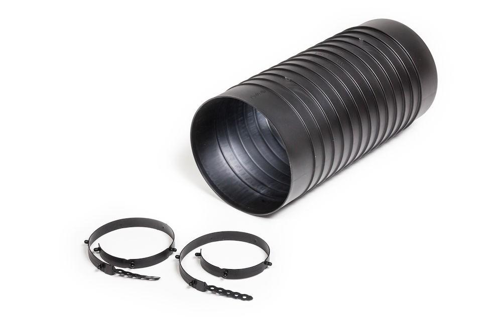 Монтажный патрубок для цокольного дефлектора ROSS 160 черный