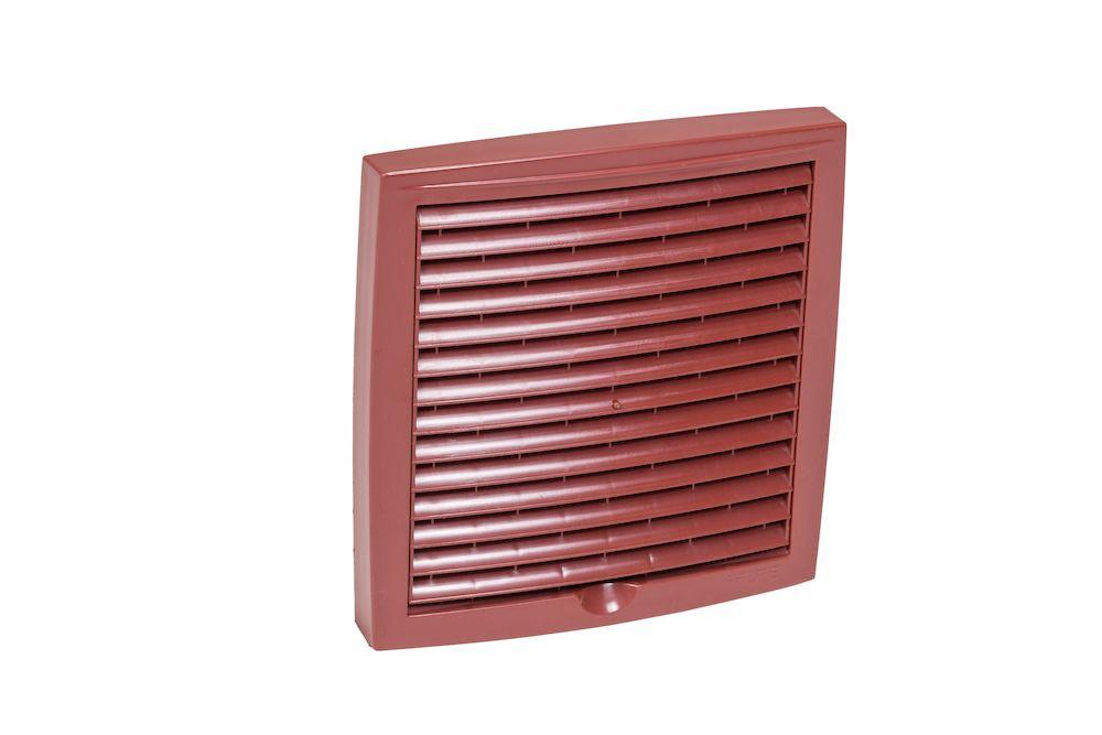 Наружная вентиляционная решетка 375х375 красный