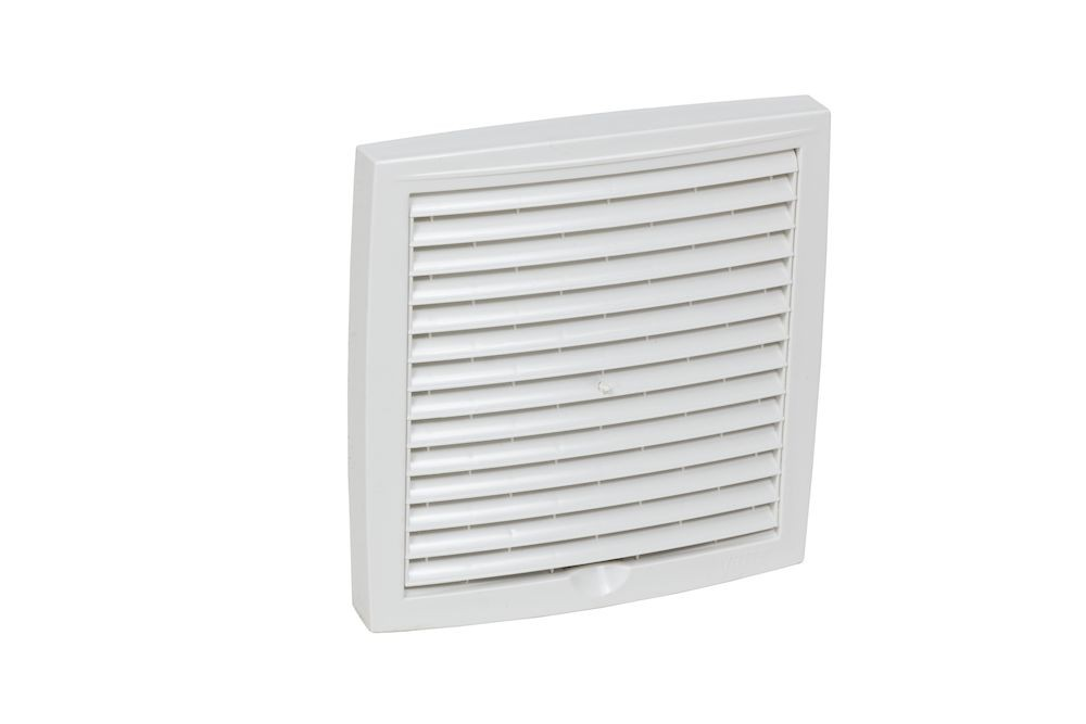 Наружная вентиляционная решетка 375х375 белый