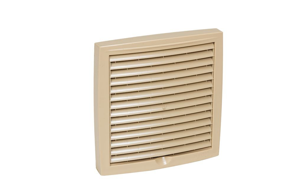 Наружная вентиляционная решетка 375х375 бежевый