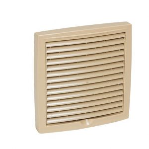 Наружная вентиляционная решетка 150х150 бежевый