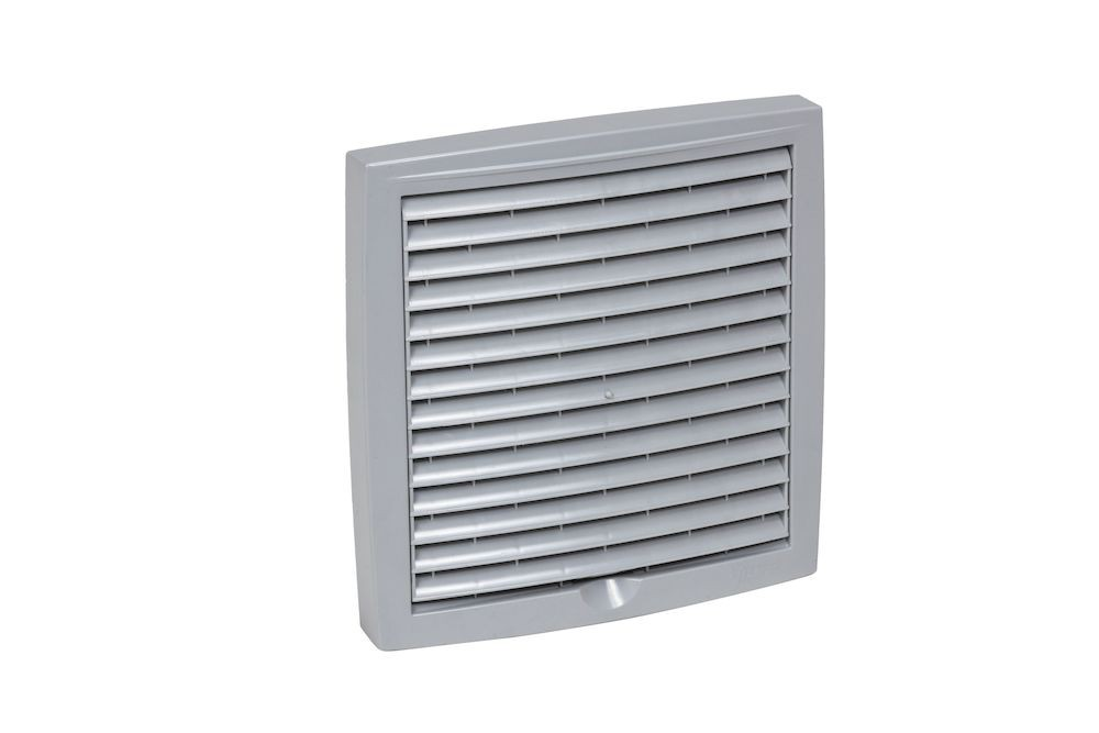 Наружная вентиляционная решетка 375х375 светло-серый