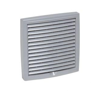 Наружная вентиляционная решетка 150х150 светло-серый