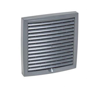 Наружная вентиляционная решетка 375х375 серый