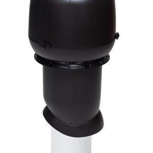 Вентиляционный выход 160/500 мм черный