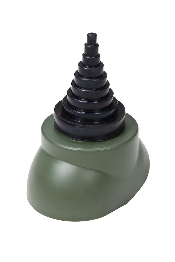 Антенный ворот EPDM-резина Ø12 - 90  мм  зеленый