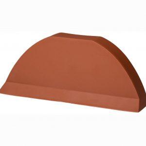 Торцевая заглушка для цементно песчаной черепицы Pelti  кирпичный