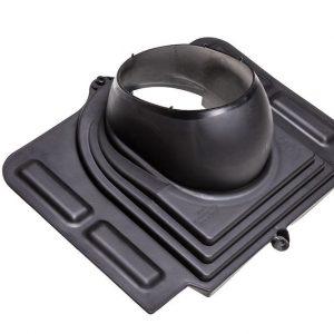 Проходной элемент для металлочерепицы Pelti черный