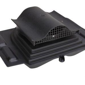 Коньковый кровельный вентиль для металлочерепицы Pelti KTV / Harja черный