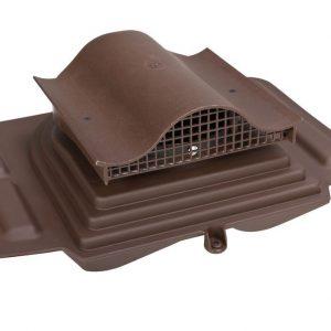 Коньковый кровельный вентиль для металлочерепицы Pelti KTV / Harja коричневый