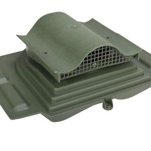 Коньковый кровельный вентиль для металлочерепицы Pelti KTV / Harja зеленый