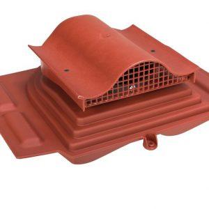 Кровельный вентиль для металлочерепицы (высокий профиль) Pelti - KTV красный