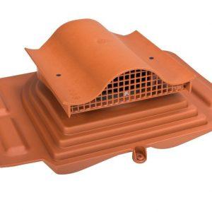 Кровельный вентиль для металлочерепицы (высокий профиль) Pelti - KTV кирпичный