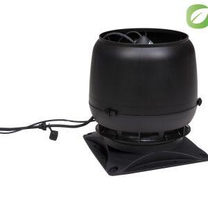 Вентилятор воздуховода ECo190S 0-700м3/ч + основание черный