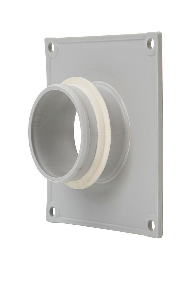 Фланец вентиляционной решетки 60 мм к решетке 150х150 светло-серый