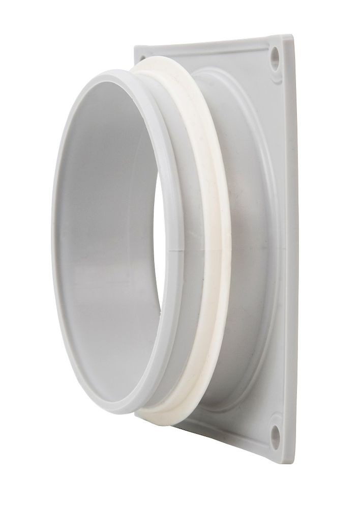 Фланец вентиляционной решетки 100 мм к решетке 150х150 светло-серый