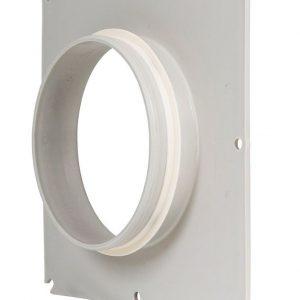 Фланец вентиляционной решетки 125 мм к решетке 240х240  светло-серый