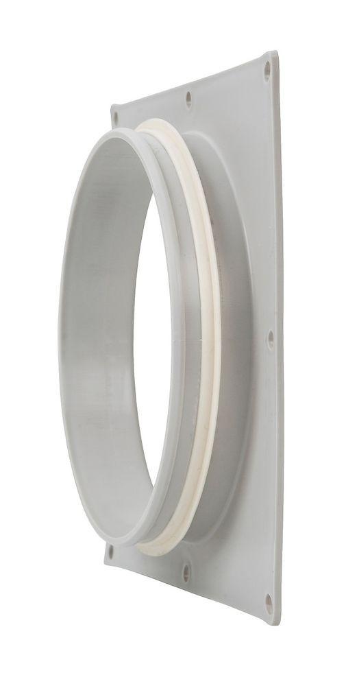 Фланец вентиляционной решетки 160 мм к решетке 240х240  светло-серый
