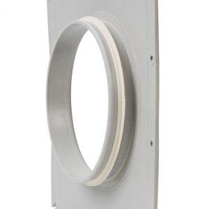 Фланец вентиляционной решетки 200 мм к решетке 375х375 светло-серый