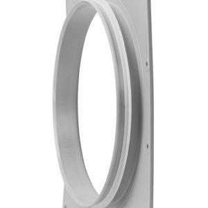 Фланец вентиляционной решетки 315 мм к решетке 375х375 светло-серый