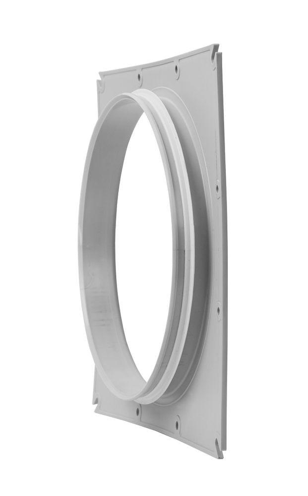 Фланец вентиляционной решетки 200 мм к решетке 240х240  светло-серый