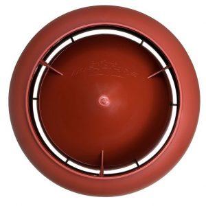 Вентиляционный выход 125/700 мм красный