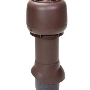 Вентиляционный выход 125/700 мм шоколадный