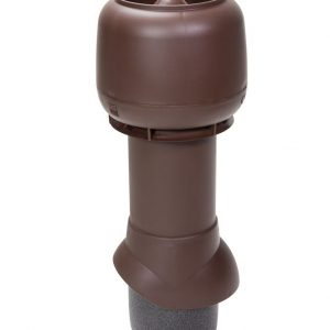 Вентиляционный выход 125/500 мм шоколадный