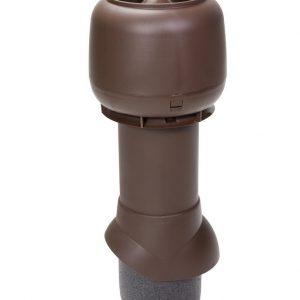 Вентиляционный выход 125/500 мм коричневый