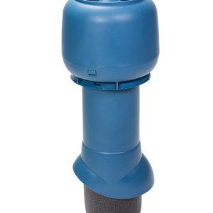 Вентиляционный выход 125/500 мм синий
