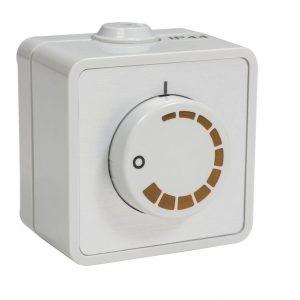 Регулятор вентилятора воздуховода 2299AG поверхностный  белый
