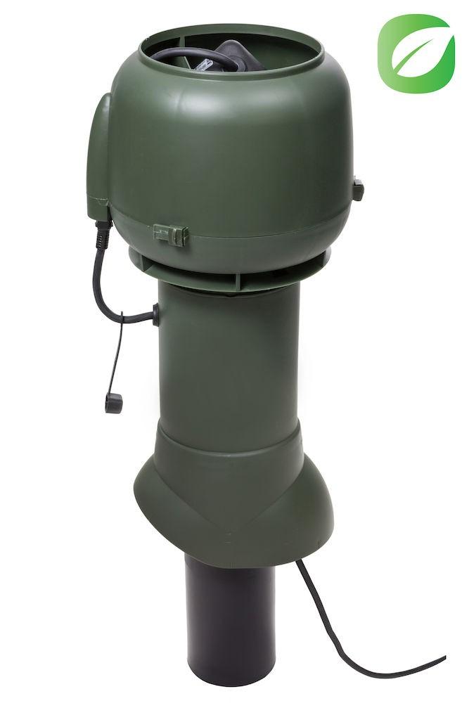 Вентилятор ECo110P/110/500  0 -600 м3/ч для биотуалетов и удаления радона зеленый